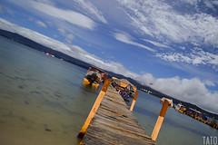 Muelle (Tato Avila) Tags: colombia colores cielos naturaleza nubes noche nocturnos nocturno estrellas lagunadetota laguna muelle boyac