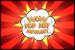 Wow pop art comic font alphabet (Effecs) Tags: wow pop art comic font alphabet decorattive colour serif popart comicbook burst explosive digital element sign letters set carton cut fun template vintage retro