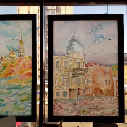 Портреты Рыбинска #галерея_март #тц_сеннаяплощадь #батик#autumncolours