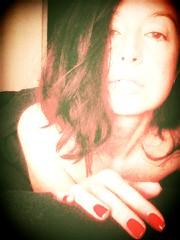 Red lean. (heidyLean) Tags: red lean novemberrain off midnight model selfieportrait disappear nails portrait autoretrato lcd newyork