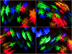 Catch a Falling Star (montage) (fstop186) Tags: christmas lights stars colours red blue green gold yellow catch falling happy fun bright montage panel