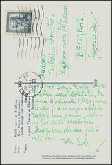 5228 R Prag Praha Karlv most a Hradany  Prag Charles Bridge and Hradany Castle       27. V. 1948. b (Morton1905) Tags: 5228 r prag praha karlv most hradany charles bridge castle       27 v 1948