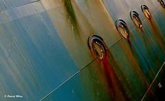Rusty blue (patrick_milan) Tags: minimalism blue rusty bleu rouille bateau ship boat voilier pche sailing fishing iroise ocean port harbour quay quai buoyant buoy brest