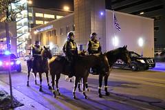 Sheriff on horses (John Rothwell) Tags: notmypresident anti trump protest grandrapids michigan city urban police horse horseback mounted sheriff