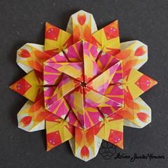 Iimori Flower D (Day 33) (Yureiko) Tags: yureiko tessellation papierfalten papier origami paperfolding paper