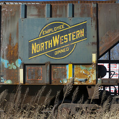 Railroad (orangedot777) Tags: hoppercar freightcar employeeowned northwestern railroad rust