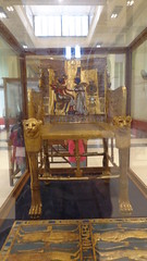 Tutankhamun's Golden Throne - Egyptian Museum (Rckr88) Tags: tutankhamuns golden throne egyptian museum cairo egypt tutankhamun tut museums egyptianmuseum ancientegypt ancient africa travel chairs chair artifacts artifact relics relic pharoah pharoahs