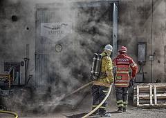 Fireman (G Er Foto) Tags: blåsljus gulleråsen brandövning fireman brand sweep challengegamewinner friendlychallenges