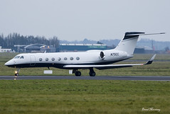 Crown Equipment Corp. G550 N75CC (birrlad) Tags: shannon snn international airport ireland aircraft aviation airplane bizjet private passenger jet airplanes approach arrival arriving finals landing landed runway crown equipment corp g550 n75cc gulfstream aerospace gvsp glf5