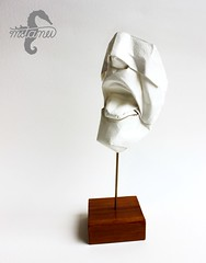 Open Wide (Face Study) (mitanei) Tags: origami tongue face mask origamitongue mitanei papierkunst paperart art paper papersculpture faces keepfoldingon