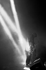 Mayhem (gin.simmonns) Tags: mayhem blackmetal metal metalhead blackmetalband blackandwhite blancoynegro norwey norwegian band music musician concert event extreme show lights light backlighting banda headbang headbanging thetruemayhem nordic true instrument playing corpsepaint satanic monk dark darkness ritual inmexico mexico