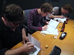 MultiBD - Ddicace - 161124 - Thomas Gilbert - Pascal Matthey - Stphane Nol (fabonthemoon) Tags: multibd ddicace 161124 thomasgilbert pascalmatthey stphanenol lemploydumoi comics stripverhaal bandesdessines dessin tekening drawing