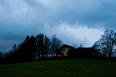A pit without entrance (TeDi62) Tags: vodarna lhota czech outdoor mysterious sky cluds morava dark house