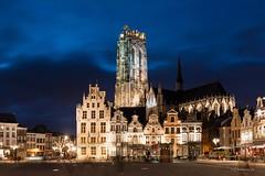 My beautiful hometown... (crispin52) Tags: mechelen belgium grandmarket night cathedral nikon