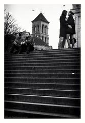 Of love (s1nano) Tags: bw france paris places steps stairs montmartre love couple blackandwhite nikond60 nikkorafsdx1855mmf3556gvr sacrécœur