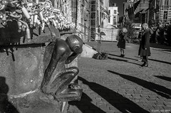 le singe (Patrice Dx) Tags: mons streetphotography streetphoto photoderue statue bronze singe