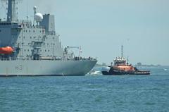 Liberty (jelpics) Tags: ocean sea boston port liberty harbor boat ship massachusetts navy vessel british tug naval bostonma tugboats warship bostonharbor h131 hmsscotth131