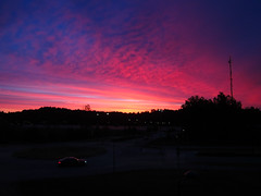 September 1st (Rd. Vortex) Tags: blue autumn sunset red sky cloud car canon espoo suomi finland landscape early driving purple outdoor powershot september s90 auringonnousu syyskuu suurpelto
