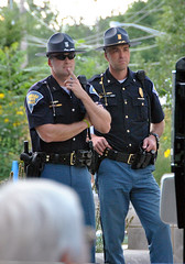 Indiana State policemen at the Indiana State Fair (carpingdiem) Tags: indianapolis police indianastatefair 2015