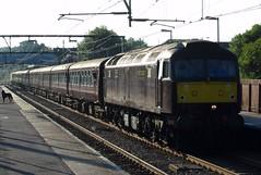Diesel special at Hockley station, Essex (Deptford Draylons) Tags: england trains railways essex locomotives hockley passengertrains networkrail class47 westcoastrailways dieselelectriclocomotives specialtrains locohauledtrains