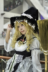 At Singapore Toy Game Comic Convention 2015 (Pic_Joy) Tags: friends portrait anime girl japan lady youth costume singapore asia comic cosplay character young manga makeup teens hobby teen teenager leisure  cosplayer popculture   passtime   2015            marinabaysands   stgcc singaporetoygamescomicconvention