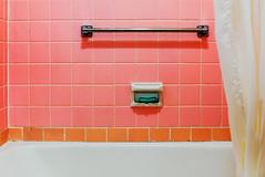 (leahlaurinda) Tags: pink vacation white green tile virginia soap country motel august tub bathtub blueridgeparkway 2015