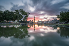 Across The Pond (Stu Meech) Tags: houses sunset sky reflection london tower westminster st thames hospital reflections river garden big pond nikon long exposure elizabeth stu little ben thomas hard parliament lee d750 grad stopper elizabeths 1635 meech of 06nd