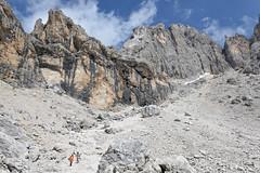 Zejście z przełęczy Passo Mulaz