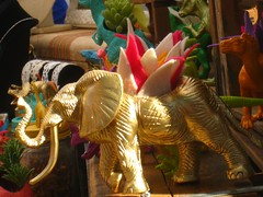 golden elephant (muffett68 ) Tags: cactus elephant start toy golden recycle planter worcesterma