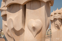 Casa Mila (ursulanoircent) Tags: barcelona casa spain mila gaudi catalunya espagne antoni barcelone