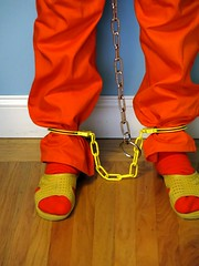 IMG_6905 (bob.laly) Tags: uniform chain jail shackles padlock handcuffs prisoner jumpsuit inmate
