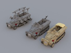 Sd.Kfz. 251 (C.Ngoc) Tags: tank lego german ww2 halftrack 251 sdkfz