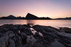 Dawn at the Rocks (MrBlackSun) Tags: norway sunrise dawn nikon purple lofoten myrland d810 nikond810 myrlandbeach