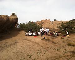 008 Waiting On The Rocks (saschmitz_earthlink_net) Tags: california orienteering rockformations aguadulce vasquezrocks losangelescounty 2015 jrotc laoc losangelesorienteeringclub