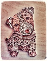 fire art (vivianmiliziano) Tags: dog fireart pirogravura pirografia pirography zentangle