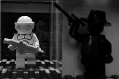 Conflict (BlueShift 12) Tags: light blackandwhite white black lego legos brickarms gibrick