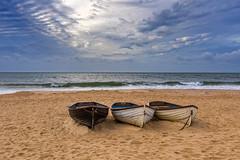 Over The Sea To Sky (nicklucas2) Tags: beach seascape boat sea sand seaside solent wave cloud