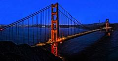 Golden Gate Bridge DSC_8489 (JKIESECKER) Tags: goldengatebridge sanfrancisco nighttimelights nighttime california bridge orange blue