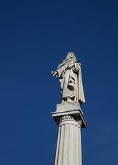 St Teresa, vila (nicnac1000) Tags: spain espaa avila statue blue saint teresa