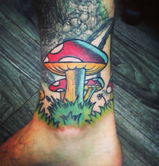 Amanitas (Bastian Klak) Tags: amanitas amanita muscaria hongos fungi drug droga mushrooms cetas colors tatuaje tattoo remake klak bastianklak santiago chile