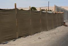 fog net or garua fence (cam17) Tags: arica chile aricachile fogcatcher garuacatcher irrigationsystem fogcatchingnet atacamadesert atacama garuanet garuafence fogfence finemeshnetting