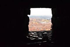 Bologna from a hole in the Tower - Bologna da un buco della Torre (Vincenzo Elviretti) Tags: money soldi bologna torre degli asinelli buco hole