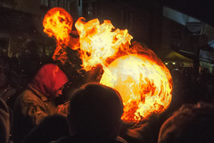 TB11 (Rockman of Zymurgy) Tags: ottetystmary devon uk tarbarrel tar barrels flame flaming fire crowd scorch barrel alight