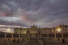 Madrid: Palacio Real at Sunset (Oleg S .) Tags: madrid spain travel architecture flickr palace sky sunset