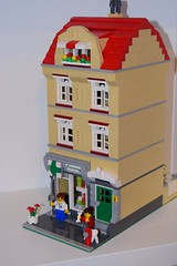 Pharmacy 1 (salvobrick) Tags: lego moc modular city pharmacy shop