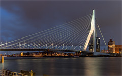 Erasmusbrug / Rotterdam 2016 (zilverbat.) Tags: rotterdam nightphotography longexposurenetherlands image nightshot nederland longexposurebynight urban longexposurewater cityscape city visit tripadvisor nightlights zilverbat erasmusbrug thenetherlands dutch dutchholland bridge brucke brug icon hotspot clouds