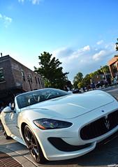 Maserati GranTurismo (Chad Horwedel) Tags: maseratigranturismo maserati granturismo car white convertible plainfieldcruisenights plainfield illinois