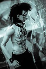 free003 (Muffin_elfa) Tags: bjd black doll cyberpunk cyborg impldoll filraen tattoo
