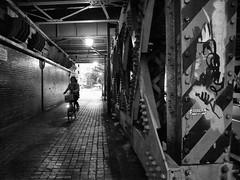 otemachi_grdiii_161015_R0012777 (jamro_jamro) Tags: otemachi underpass tokyo blackandwhite monochrome noiretblanc street candid grdiii grdigital bicycle