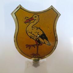 Stork moped shield (Frans Schmit) Tags: dehaagseooievaar fransschmit puch brommer moped